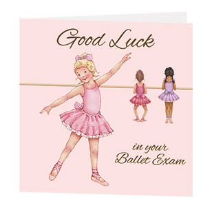 Greetings cards ballet exam good luck card m4hsunfo